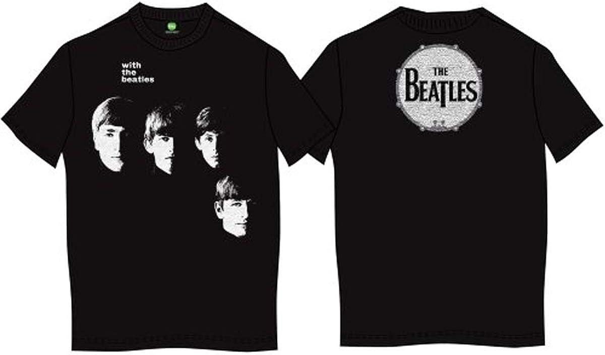 T-Shirt # Xxl Black Unisex # With the Beatles