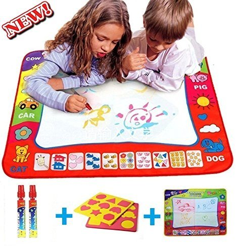 Water drawing mat painting - Learning doodle board toy - Baby Toys for 2/3/4/5/6 years old boys & girls - Baby gift