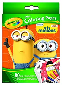Amazon Crayola Mini Coloring Pages Minions Toys