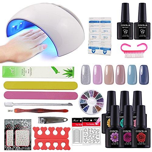 Coscelia Gel Nail Starter Kit Gel Nail Polish 6pcs Colour Gel 10ml, Top and...