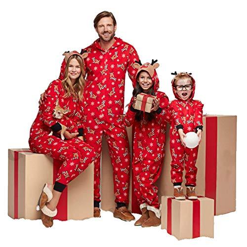 Christmas Family Matching Onesie Pajamas Sets Kids Adult Xmas Family Clothes -