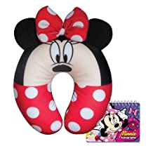 Disney Minnie Mouse Travel Pillow Comfy Plush with Free Autograph Book by Disney