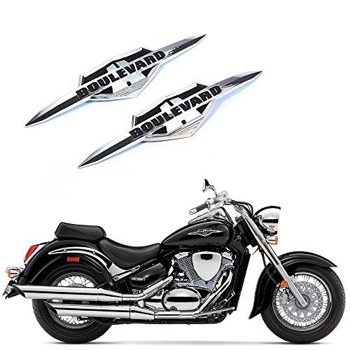 3D 2PCS Chrome Gas Tank Emblem Badge Decals ABS plastic For Motorcycle Suzuki Boulevard C50 M50 C90 M90 C4109R M109R