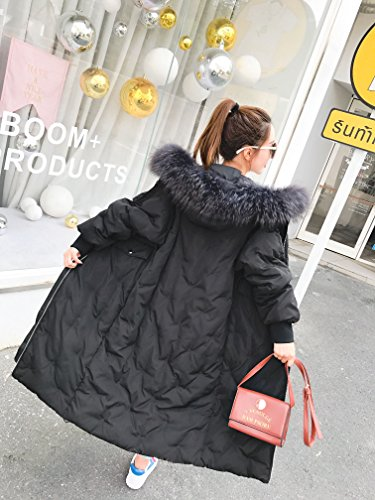 Long Thick Big Duck Jacket The Long Hair Winter Down Knee White Over For Coat Clothing Yards Loose Down Dark Female Xuanku The Rw405q7xF