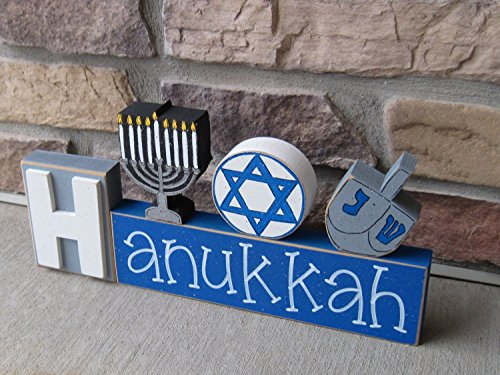 HANUKKAH BLOCKS with Menora, Jewish Star, and - Dreidel Hanukkah Craft