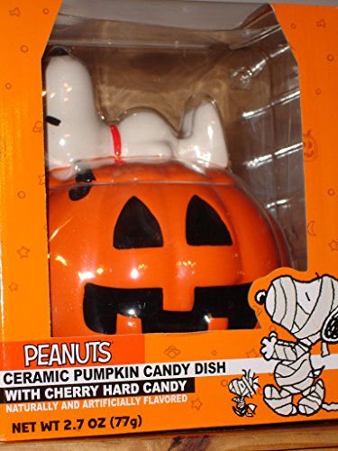 Peanuts Snoopy Halloween Pumpkin Candy Cookie Jar - Halloween Jar