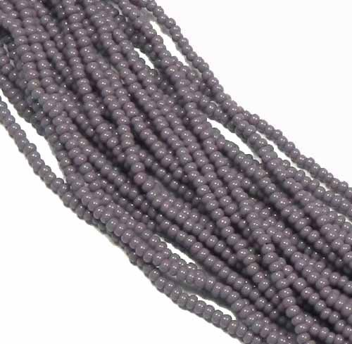 Light Purple Opaque Czech 6/0 Seed Bead on Loose Strung 6 String Hank Approx 900 ()