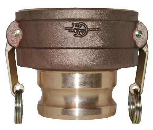 PT Coupling CXA Series 30CX20A Brass Reducer Cam and Groove Hose Fitting, CXA Short Reducer, Brass (HB) Cam Arms, 3