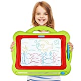 Magnetic Drawing Board - Kids Magna Doodle Erasable Writing Sketch Board Pad Upgrade Version Green