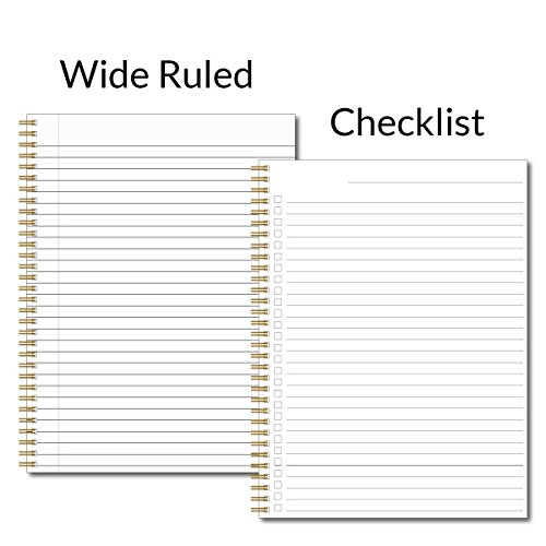 Gratitude Inspirational Personalized Pink & Gold Notebook/Journal, 120 Wide Ruled or Checklist Pages, durable laminated cover, and wire-o spiral. 8.5x11 | 5.5x8.5 | Made in the USA Photo #3