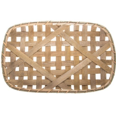 Tobacco Basket Farmhouse Decor Small Wooden Wall Or Table Centerpiece (23.5