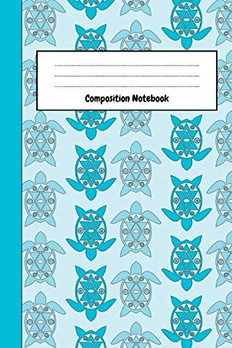 Lovely Turtle - Composition Notebook: Lovely Turtle Journal / Diary, Unique Gifts For Turtle Lovers (Lined, 6