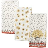 Maison d' Hermine Bagatelle 100% Cotton Set of 3 Kitchen Towels 20 Inch by 27.50 Inch