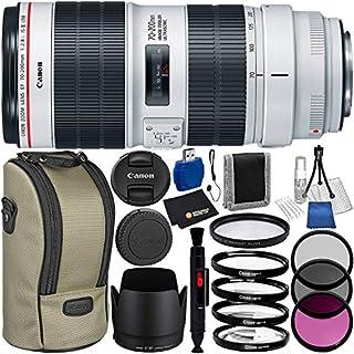 Canon EF 70-200mm f/2.8L is III USM Lens (3044C002) 8PC Bundle – Includes: 3 Piece Filter Set (UV + CPL + FLD) + 4PC Macro Filter Set (+1,+2,+4,+10) + More
