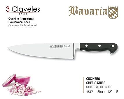 Compra 3 Claveles Cuchillo Forjado gama Bavaria (30 cm 12 ...