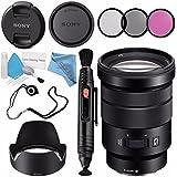 Sony E PZ 18-105mm f/4 G OSS Lens SELP18105G + 72mm 3 Piece Filter Kit + Lens Pen Cleaner + Fibercloth + Lens Capkeeper + Deluxe Cleaning Kit Bundle