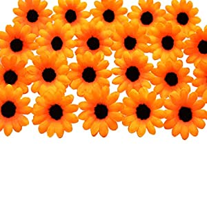 HZOnline Artificial Silk Daisy Flower Heads, Fake Fabric Gerbera Floral Head for DIY Easter Eggs 3