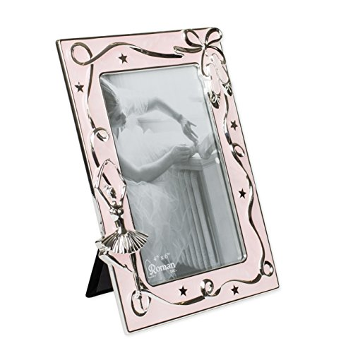 Ballerina Ballet Pink Ribbon 7.5 x 6 inch Zinc Alloy Table Top Picture -