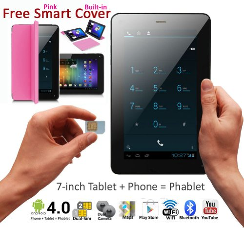 3G Smartphone 7in Android 4.4 Smart Phone Tablet PC Bluetooth WiFi Google Play Store UNLOCKED! by inDigi