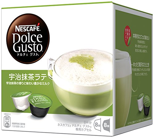 (Nestle Coffee Capsules for Nescafe Dolce Gusto - Uji Matcha Green Tea Latte Taste (Japan Import))