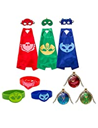 Yimidear Cosplay Costume Superheroes Comics Cartoon Dress Up Party Supplies Cape Mask Sets for Kids