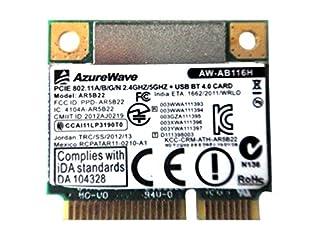 AzureWave AW-AB116H AW-NB110H AR9462 AR5B22 WB222 Half Mini PCIe PCI-Express WLAN Wifi Wireless + Bluetooth BT Card module 802.11n (B00U8VT8FE)   Amazon price tracker / tracking, Amazon price history charts, Amazon price watches, Amazon price drop alerts