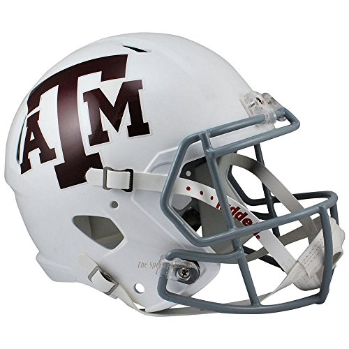 Riddell Texas A&M Aggies White Officially Licensed NCAA Speed Full Size Replica Football Helmet