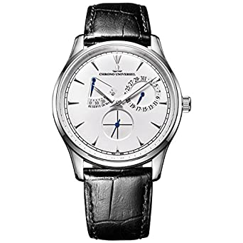 Automatikuhr Design - Angabe Gangreserve - Armband Leder - Saphirglas - Hohe QualitÄt