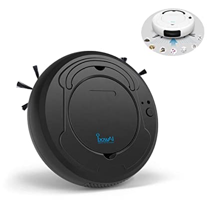 Lesgos Robot Vacuum Cleaner, 3 in 1 USB Smart Automatic Robotic Sweeper  with Mopping, Strong Suction, Anti-collision Sensor, Floor Robot Cleaner  for