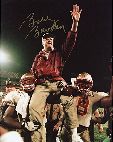 Bobby Bowden Florida State Seminoles Autographed 8'' x 10'' On Shoulders Hand Up Photograph - Fanatics Authentic (Florida State Seminoles Photograph)