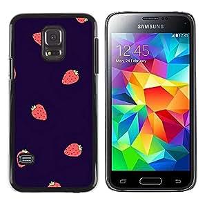 TopCaseStore / la caja del caucho duro de la cubierta de protección de la piel - Berries Purple Red - Samsung Galaxy S5 Mini, SM-G800, NOT S5 REGULAR!