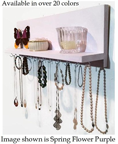 renewed-dcor-wall-mount-jewelry-organizer-with-integrated-display-shelf-customize-with-25-colors-and