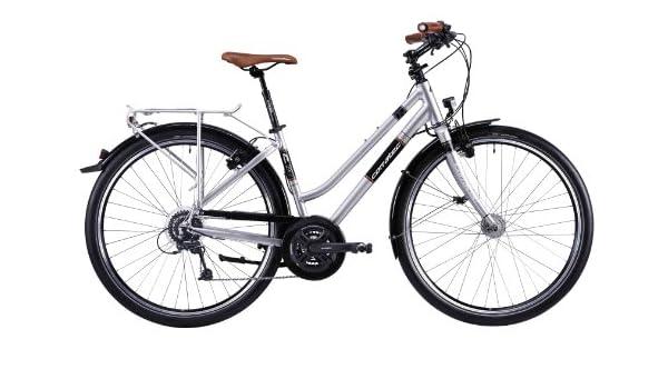 Corratec C29 Trekking Base - Bicicleta híbrida, Color Plateado ...