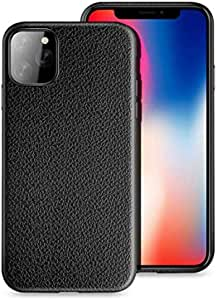 Slim flexible plastic protection case similar to the texture of the natural leather for Apple iPhone 11