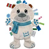 label label Friends Polar Bear Silky Comfort Taggie Baby Soother Blanket