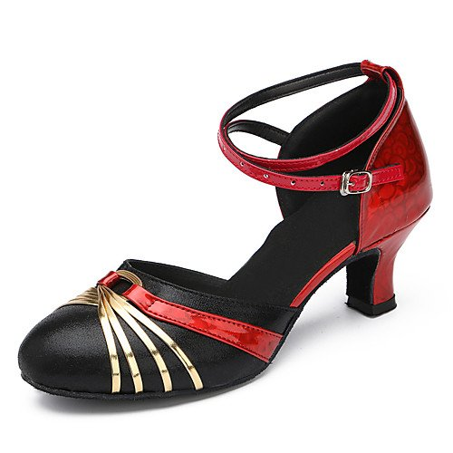 Heel Gold Shoes Indoor T Black T Stiletto Modern Patent Suede Q Leather Gold Dance Heels Black tqZxwqvfa