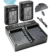 BM Premium 2 Pack of NP-FZ100 Batteries and Dual USB Battery Charger for Sony Alpha 9, Sony A9, Sony Alpha 9R, Sony A9R, Sony Alpha 9S, Sony A7RIII, A7R3, Sony a7 III Digital Cameras
