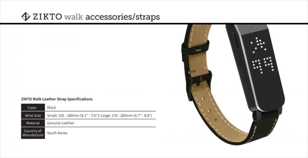 MU Sports Zikto Walk Leather Strap Black Large (List Size: 17-20.5 cm) Golf Wear/Women's Vest/Women's Complete Sets/Golf-Club-Complete-Sets by MU Sports (Image #4)
