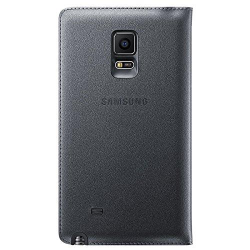 [Samsung純正] FLIP WALLET COVER for Galaxy Note Edge - ギャラクシーノートエッジ フリップウォレットカバー(自動画面ON/OFF機能付き) (チャコールブラック)