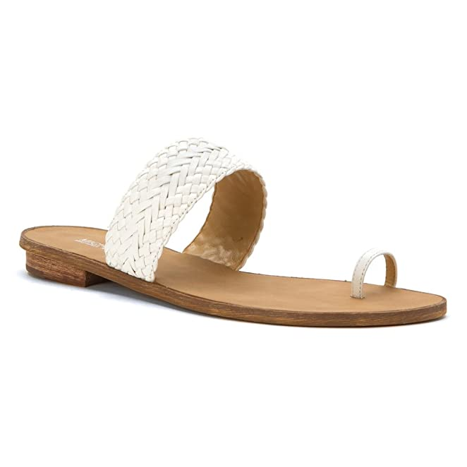 MICHAEL Michael Kors Daniella Toe Thong Womens Optic White