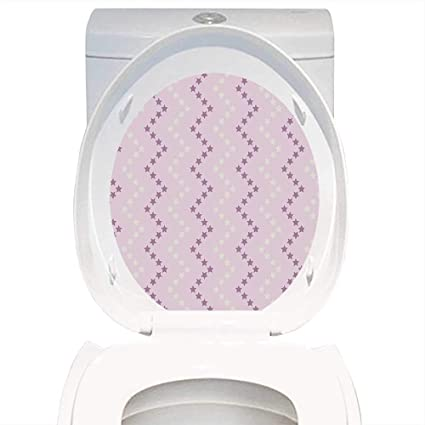 Amazoncom Qianhe Home Toilet Seat Wall Stickers Paper Mauve Decor