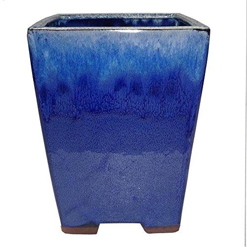 Blue Ceramic Bonsai Pot - Brussel's 6.5
