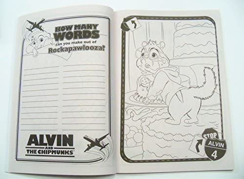 Alvin & the Chipmunks Chipwrecked Jumbo Coloring & Activity Book ... | 367x500