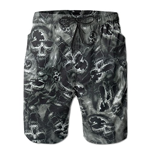 Skull Trunk (Swim Trunks Skull Men's Summer Casual Swimming Shorts Beach Board Shorts)