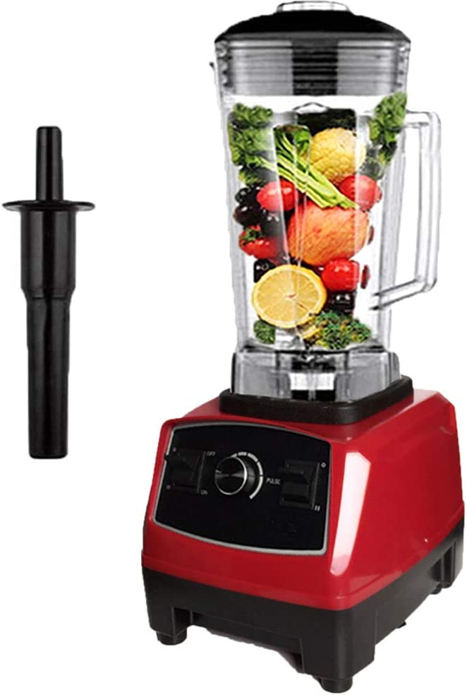 2L Smoothie Maker/Mixer, Countertop Blender Jug Blenders with BPA Free Glass Jar, Variable Speed Control and ABS Stirring Rod for Juice Shakes,Red,220V EU Plug