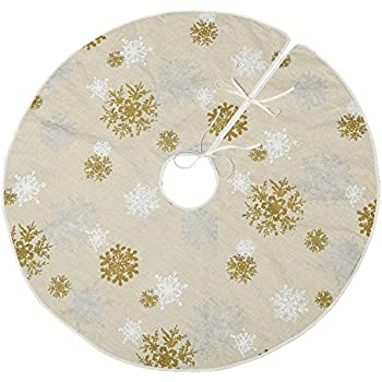 "VGA 50"" Christmas Tree Skirt with Snow Pattern"