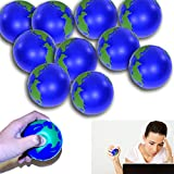 Stress Relief Squeeze Balls Earth World Globe Stress Relaxable Toy - 12 Pieces