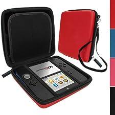 iGadgitz Red EVA Hard Case Cover for Nintendo 2DS