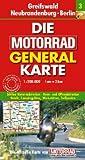 Motorrad Generalkarte Deutschland Greifswald, Neubrandenburg, Berlin 1:200 000