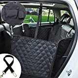 Ephram Dog Car Seat Cover, Universal Safety Pet Car Back Seat Covers Dogs Car Seat Protector Adjustable Travel Pets Cat Car Backseat Bench Hammock Mat Blanket Bed Waterproof Nonslip Scratch Proof Dog Hammock For SUV Family Van Trucks Sedan Vehicles